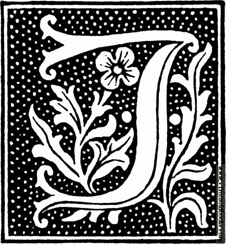 Clipart Initial Letter J From Beginning Of the 16th