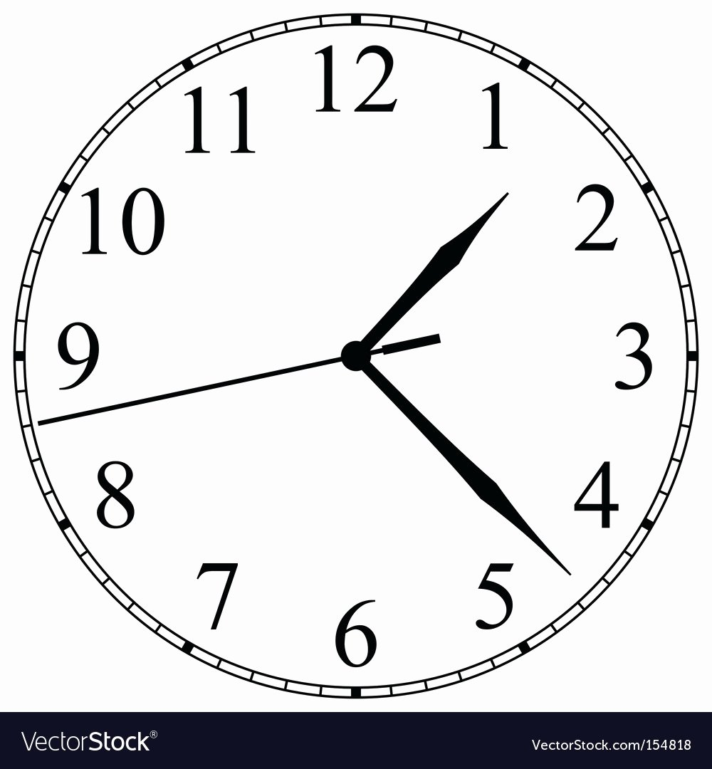 Clock Face Royalty Free Vector Image Vectorstock
