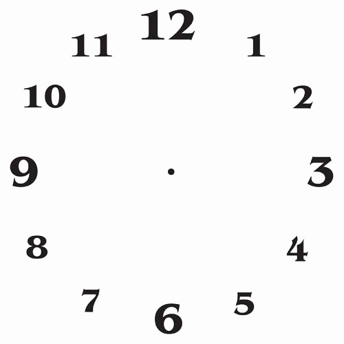 Clock Face Templates – Free