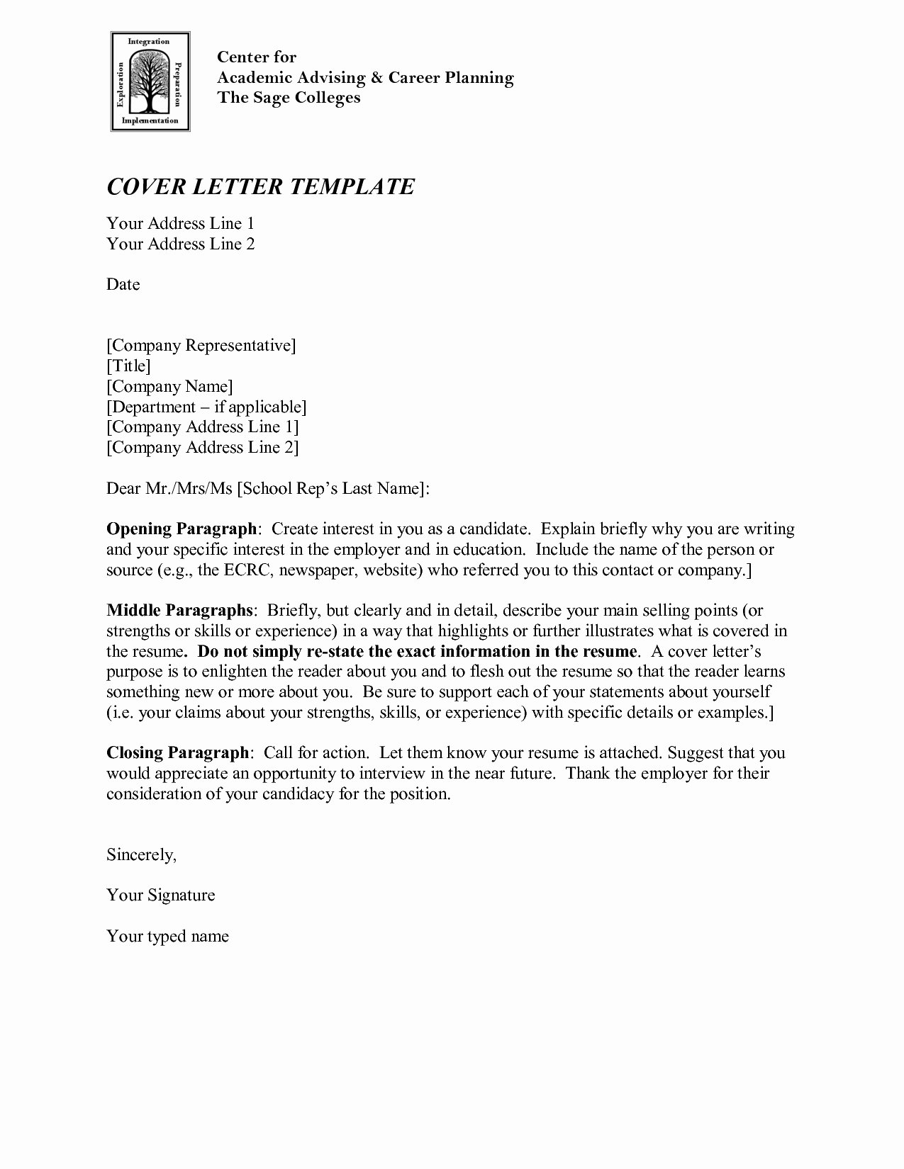Closing Paragraph Academic Cover Letter
