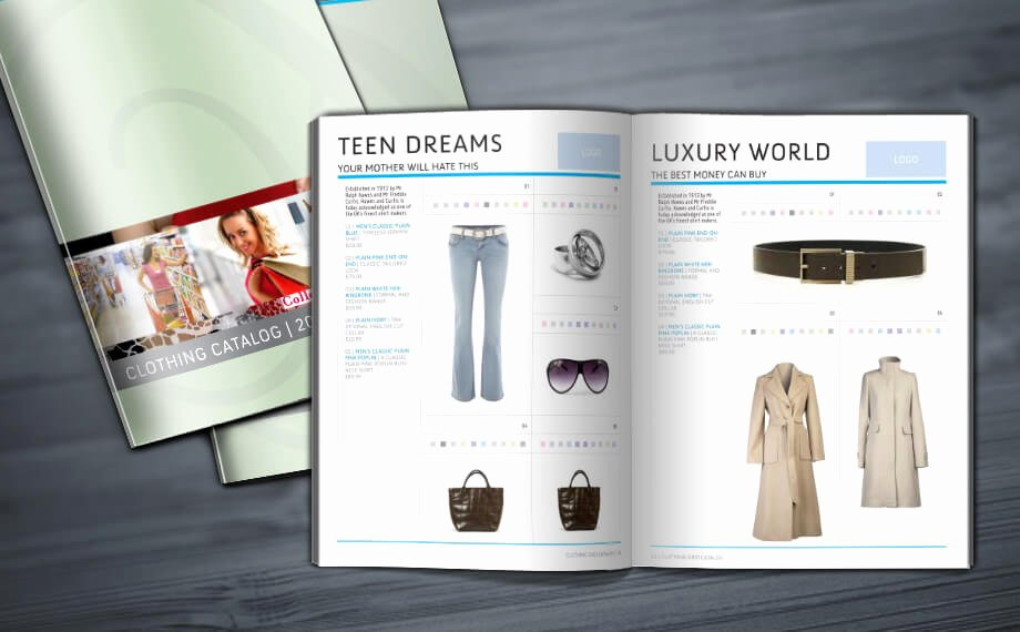 Clothing Grid Catalog Indesign Template