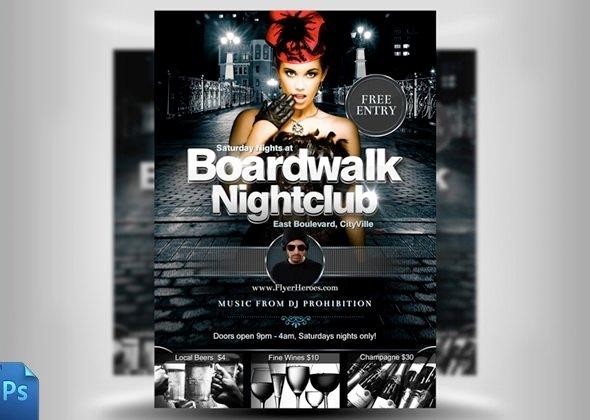 Club Flyer Background Templates