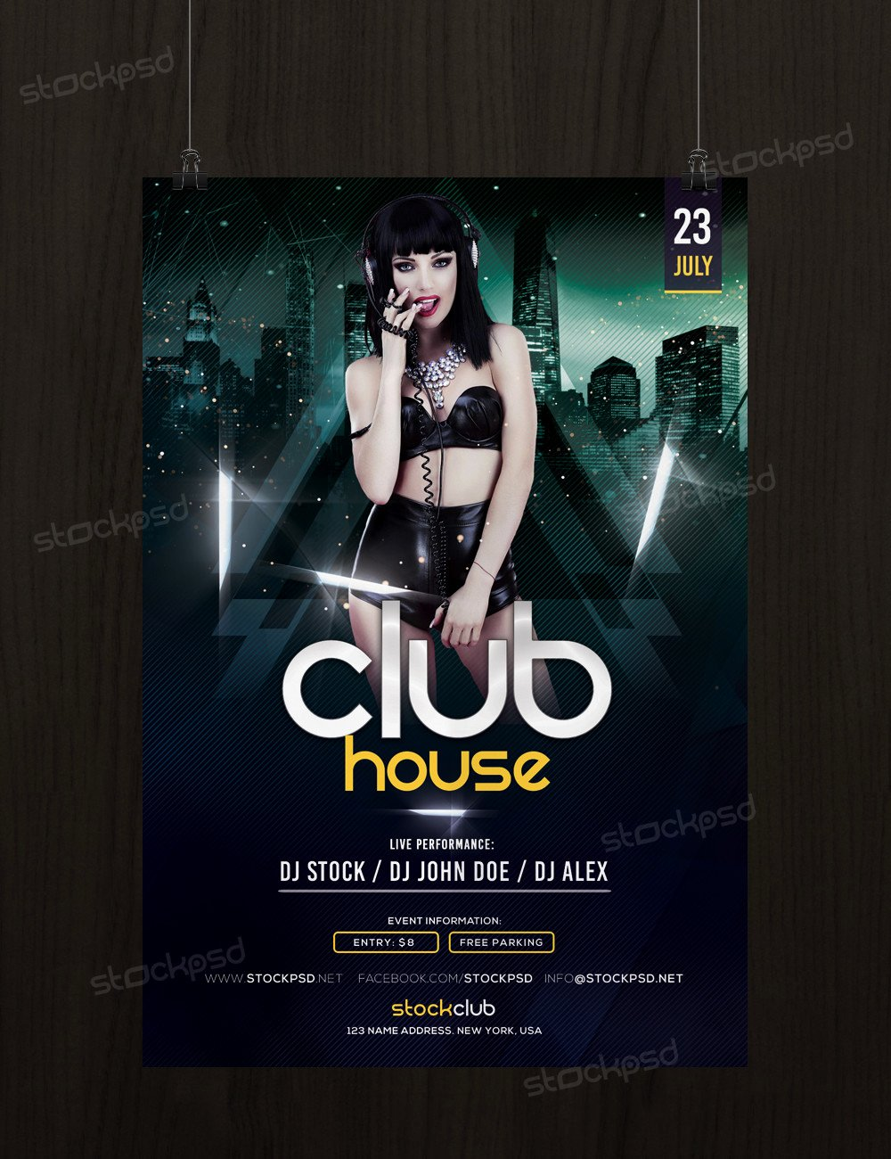 Club House Download Free Psd Flyer Template Stockpsd
