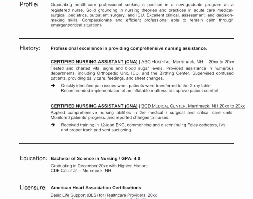 Cna Duties for Resume Luxury Resume for Med Surg Nurse