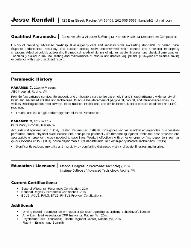 Cna Duties for Resume Resume for Nursing assistant Resume