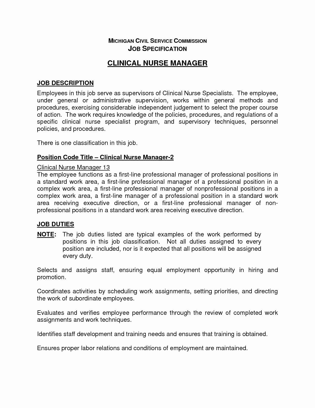 Cna Duties for Resume Talktomartyb