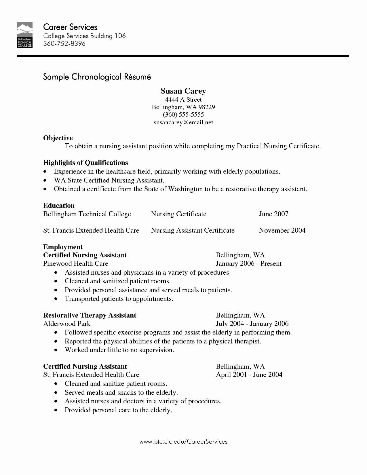 Cna Resume No Experience Template Latter Example Template