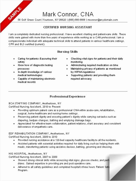 Cna Resume Sample Resume Examples Pinterest