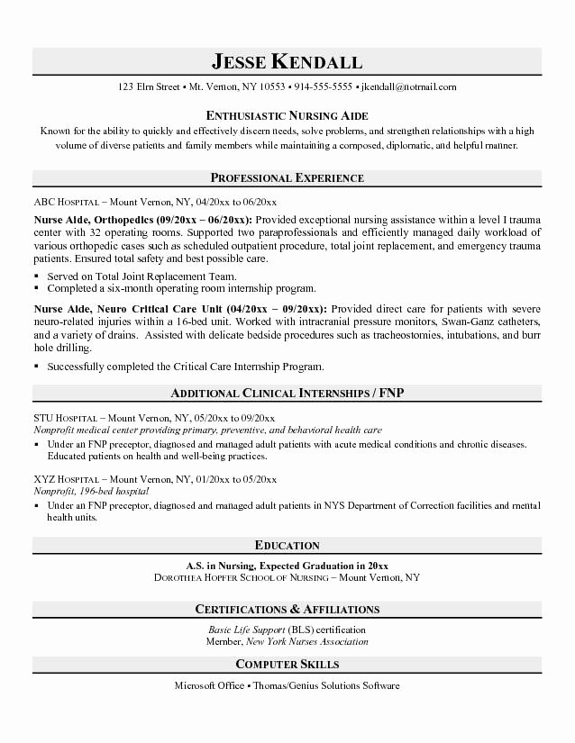 Cna Skills Resume for 2016 Samplebusinessresume