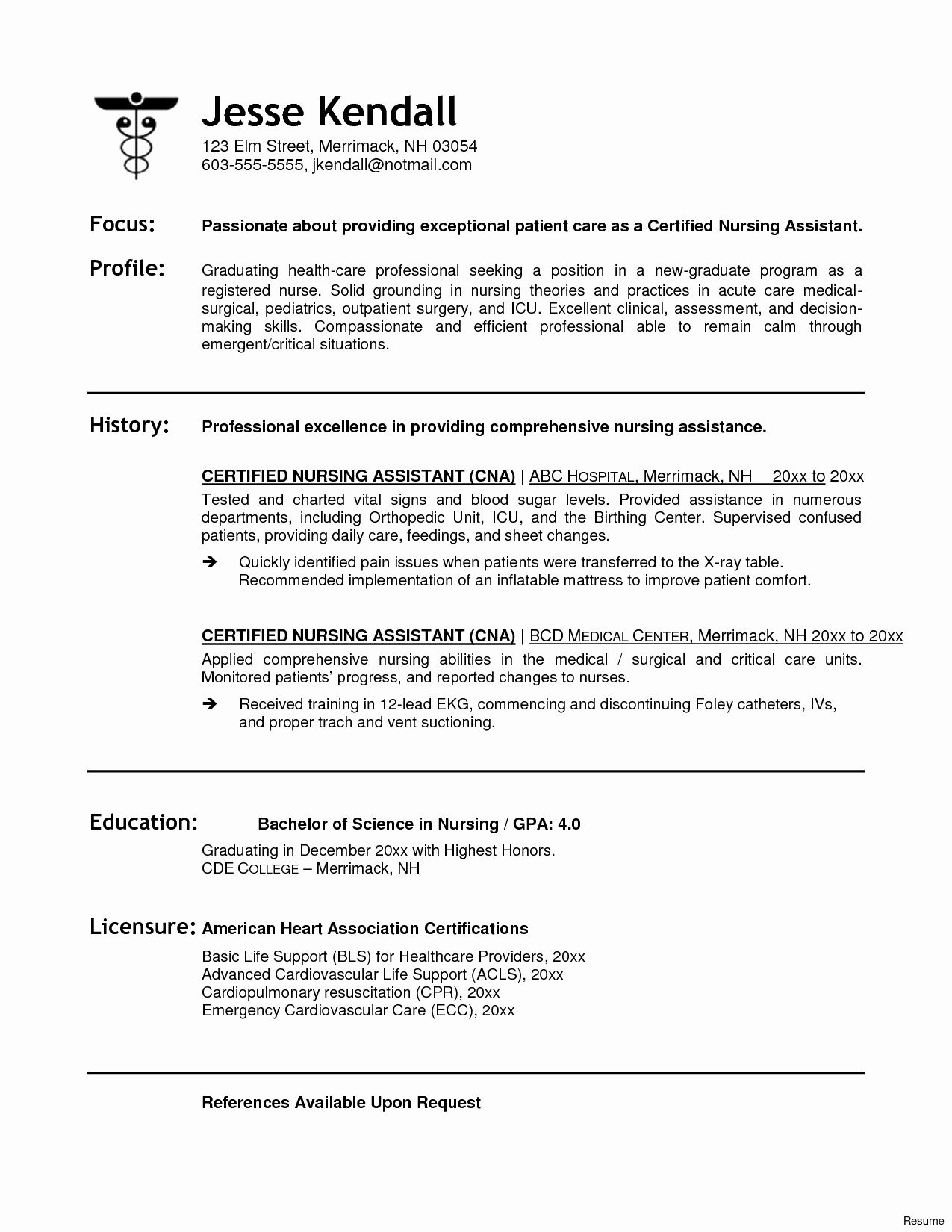 Cna Skills Resume Pleasant Healthcare Resumes Templates