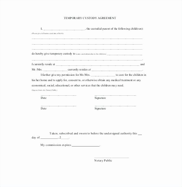 Co Parenting Agreement Sample Gallery Agreement Letter