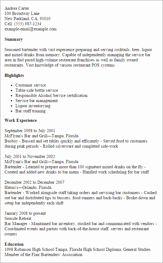 Coaching Resume Template Bartender Pdfeports173 Web Fc2