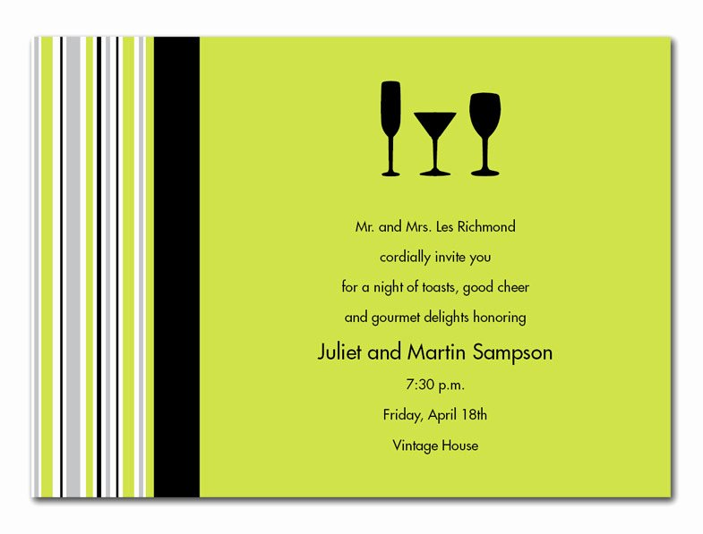 Cocktail Dinner Invitation Template Templates Resume