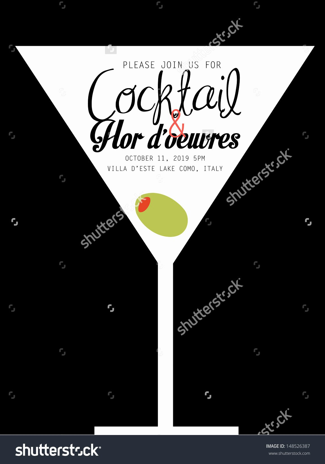 Cocktail Invitation Template