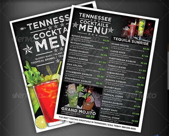 Cocktail Menu Templates – 54 Free Psd Eps Documents