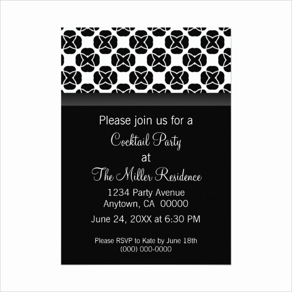 Cocktail Party Invitation Templates 10 Free Psd Vector