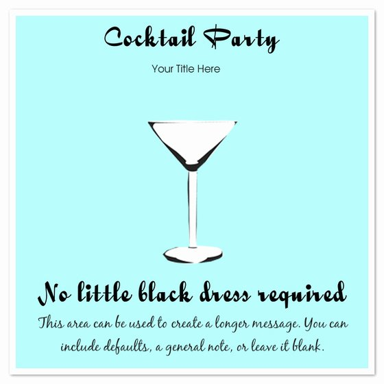 Cocktail Party Invitations & Cards On Pingg