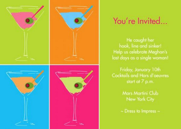 Cocktail Party Invitations Templates are Available Line