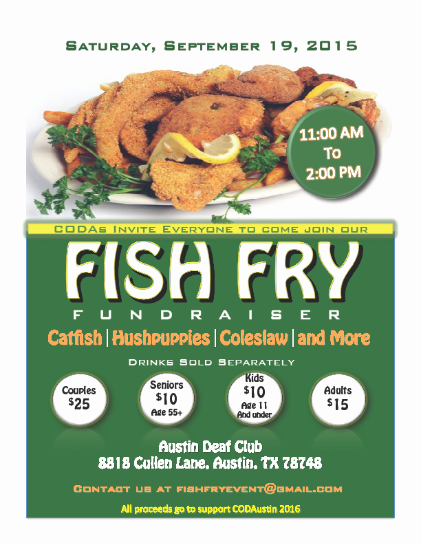 Coda's Fish Fry Fundraiser 2015 – Austin – Deaf Network Of