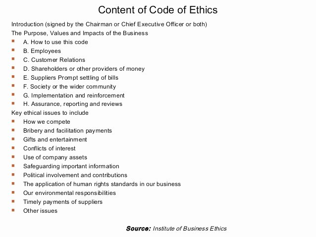 Code Of Business Ethics Definition Examples and Tips to