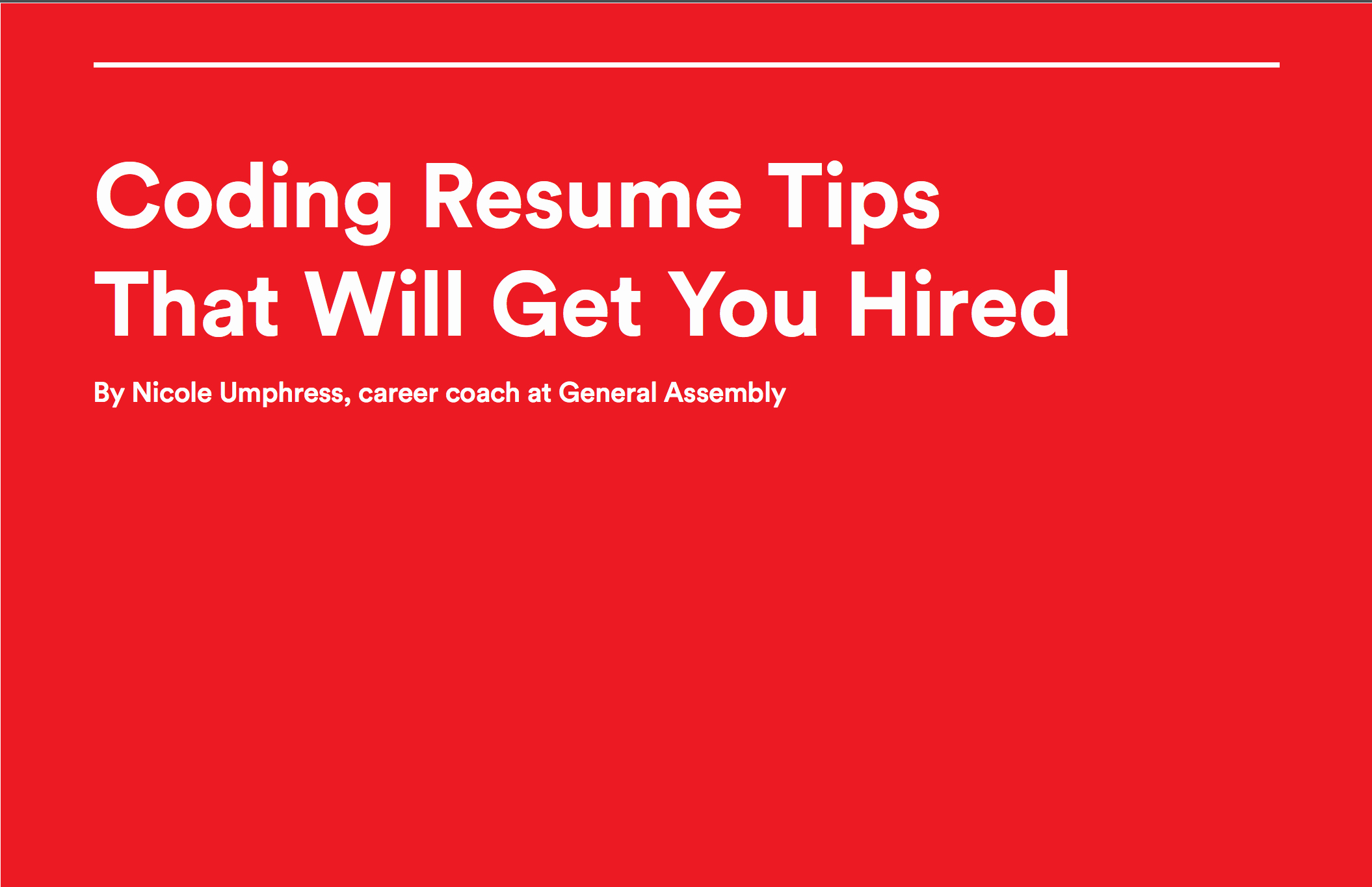 Coding Resume Tips that Will Get You Hired Tin Ho Chu