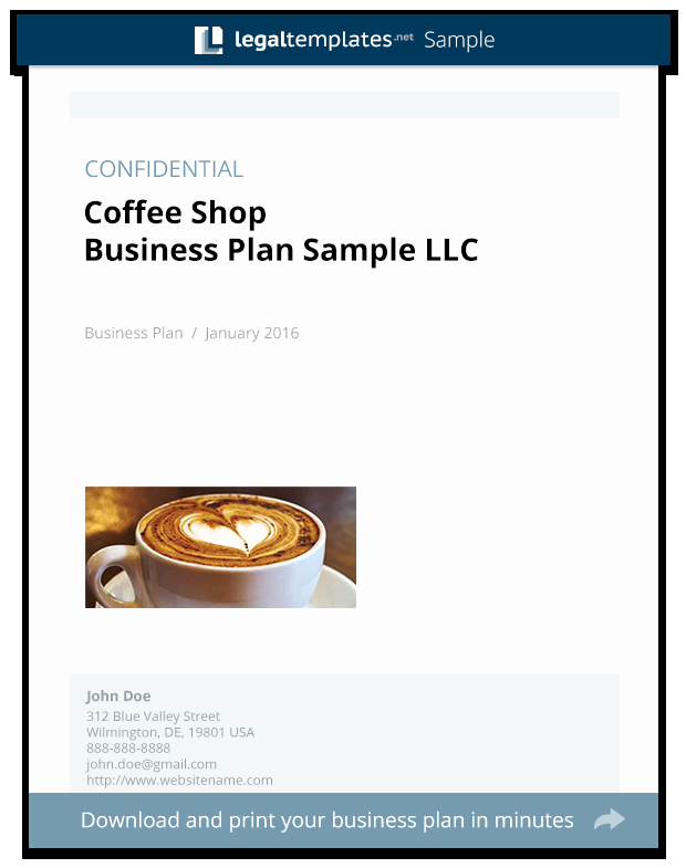 Coffee Shop Business Plan Sample