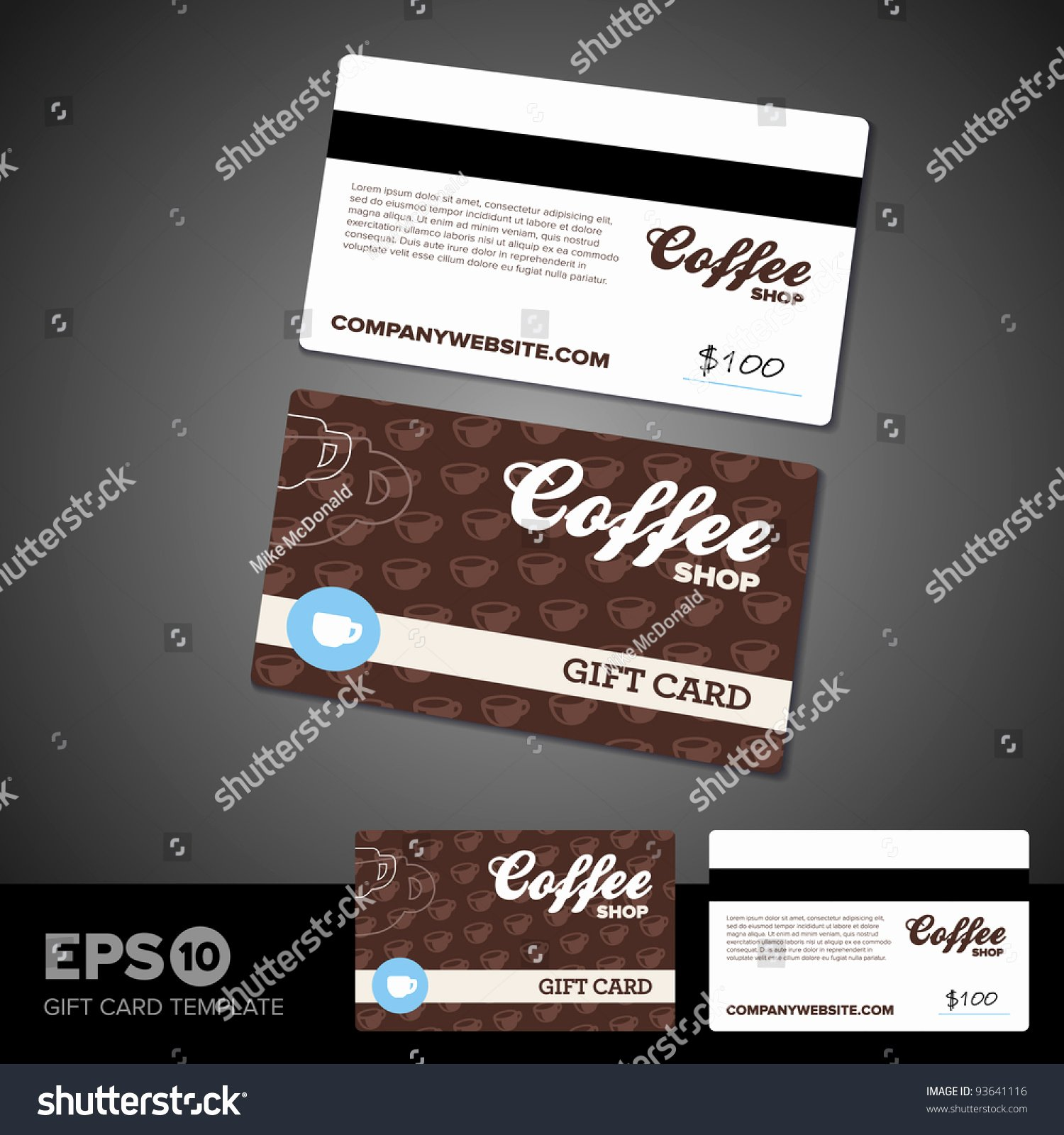coffee shop cafe t card template
