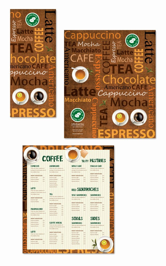 Coffee Shop Menu Template Dlayouts Graphic Design Blog