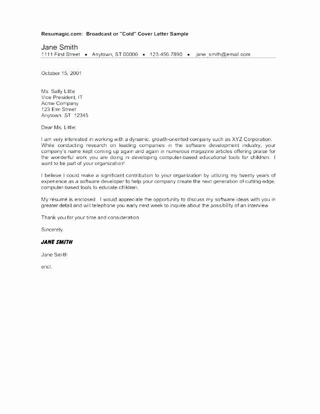 Cold Canvassing Cover Letter Sample Calling Call Examples