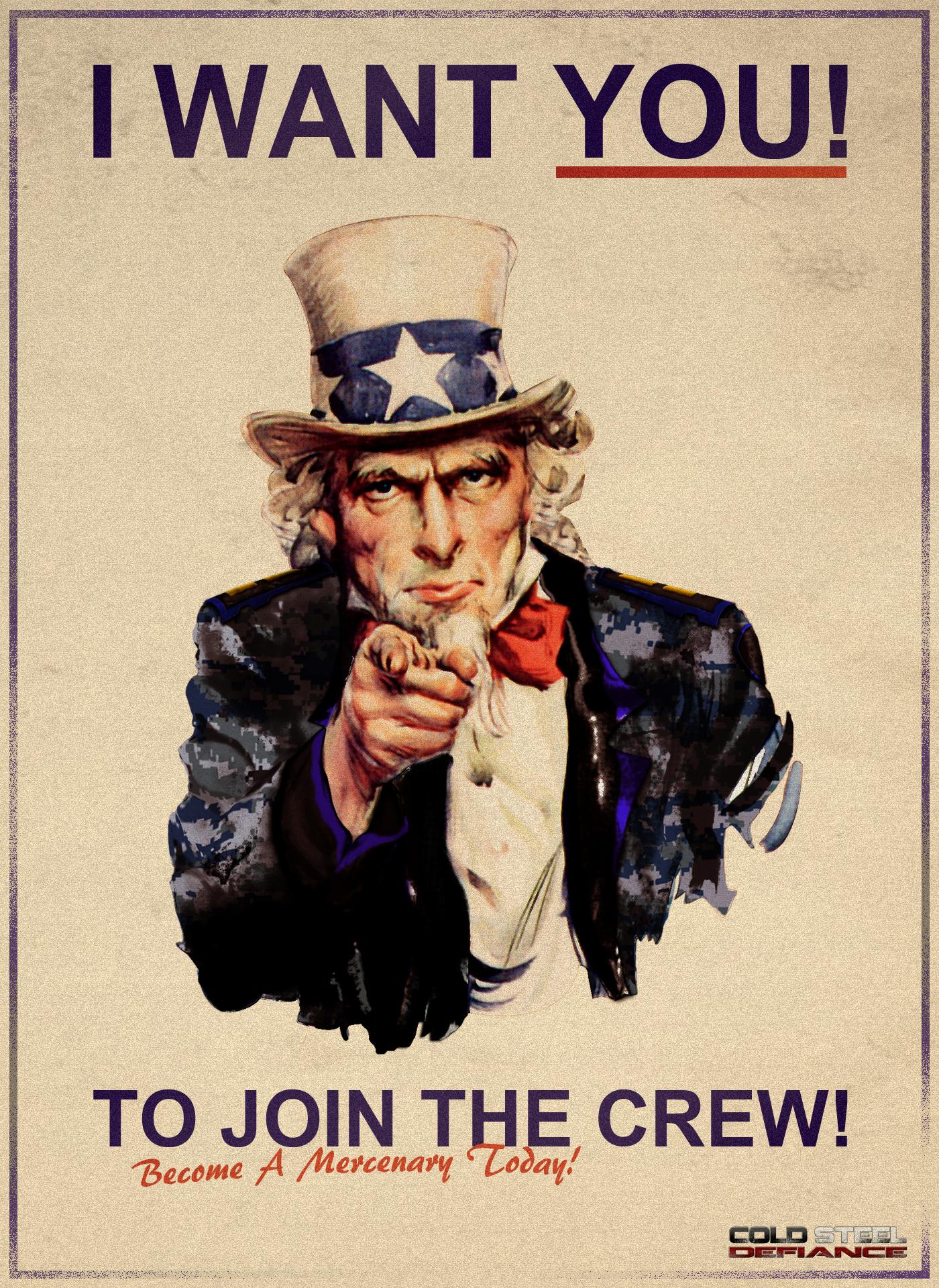 Cold Steel Defiance Uncle Sam Poster by Krushvarrok On