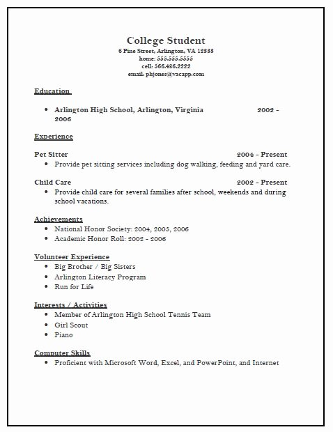 Collage Application Resume Template Example Manager