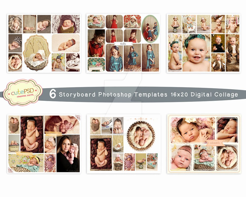 Collage Template 6 Storyboard Shop Template by