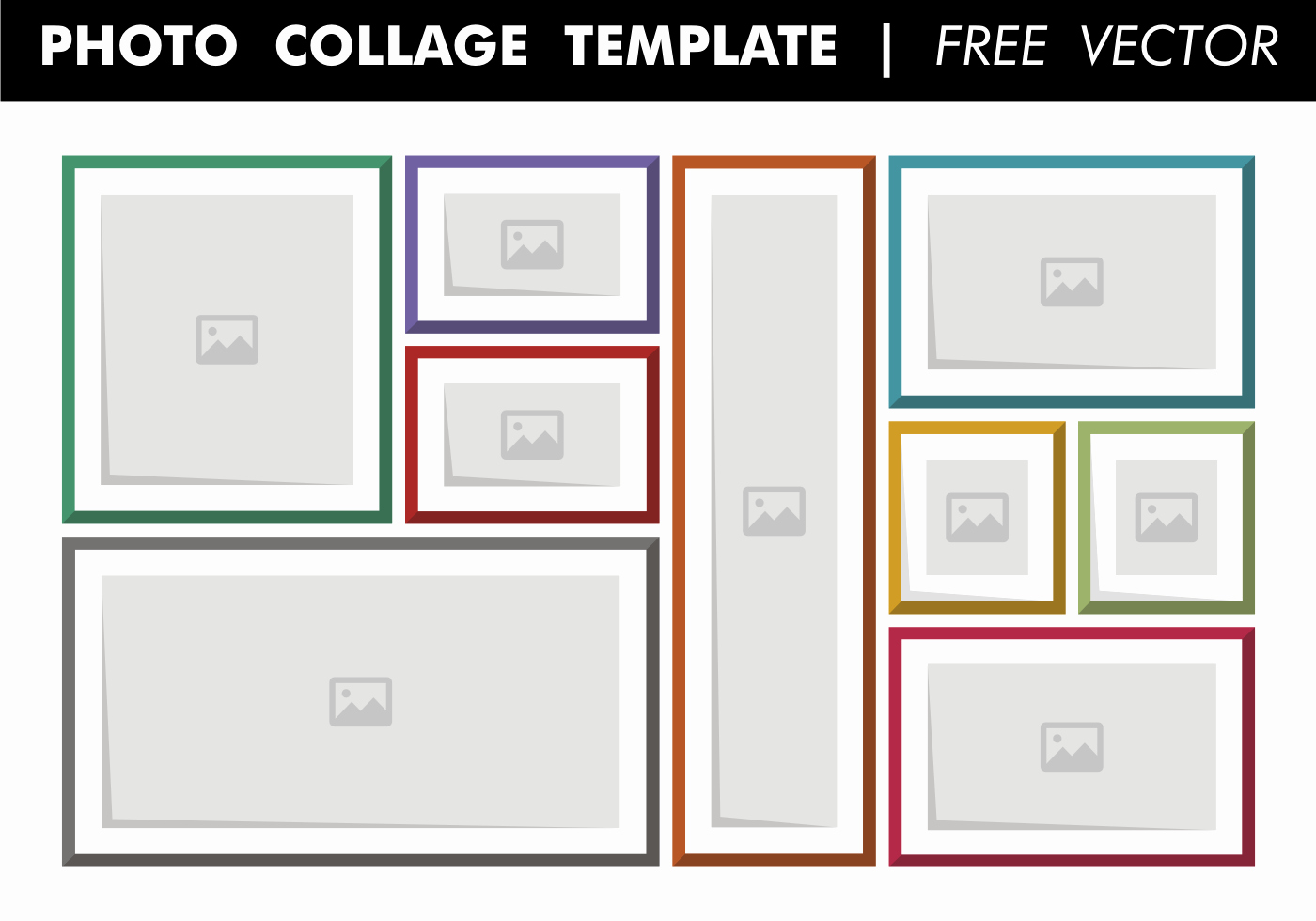 Collage Template Free Vector Download Free Vector