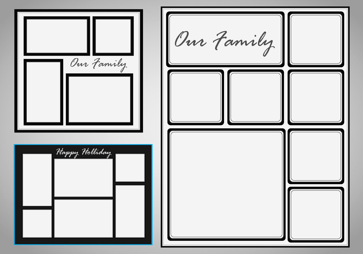 Collage Template Vector Set Download Free Vector