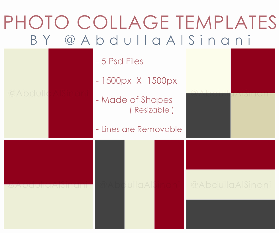 Collage Templates for Web and Instagram by