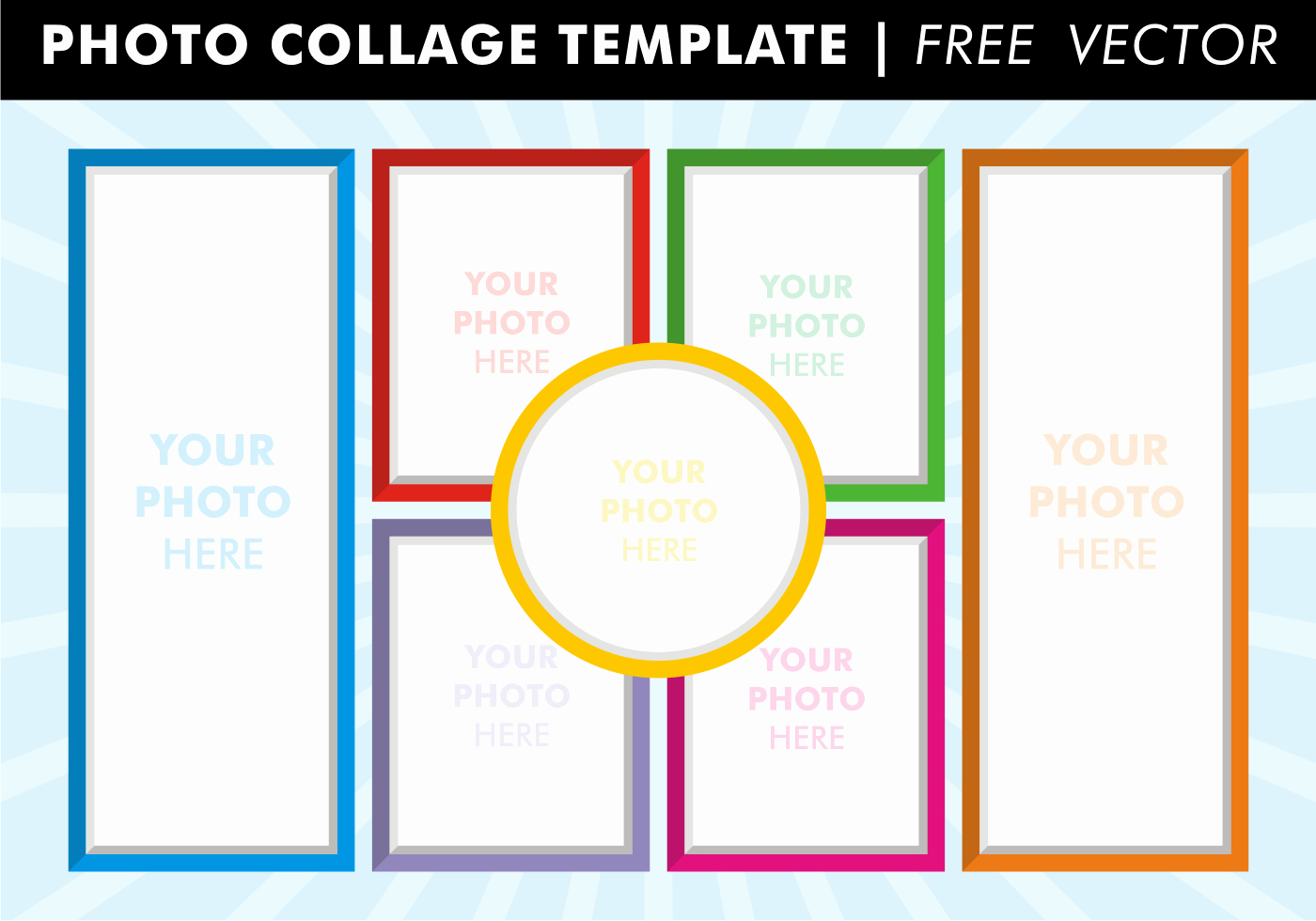 Collage Templates Vector Download Free Vector Art