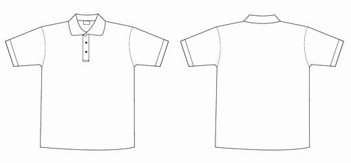 Collar T Shirt Template for Shop Templates Data