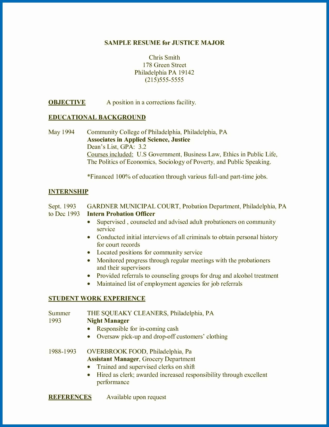 Collection solutions Criminal Justice Resume Skills