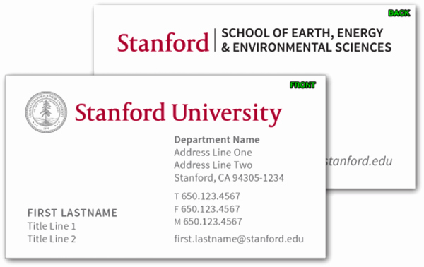 College and Graduate Student Business Cards Template