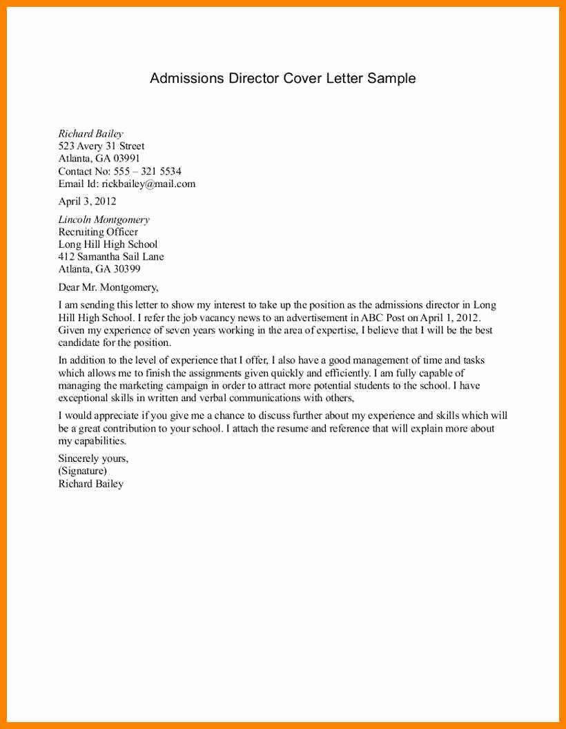 College Application Cover Letter Cover Letter Samples
