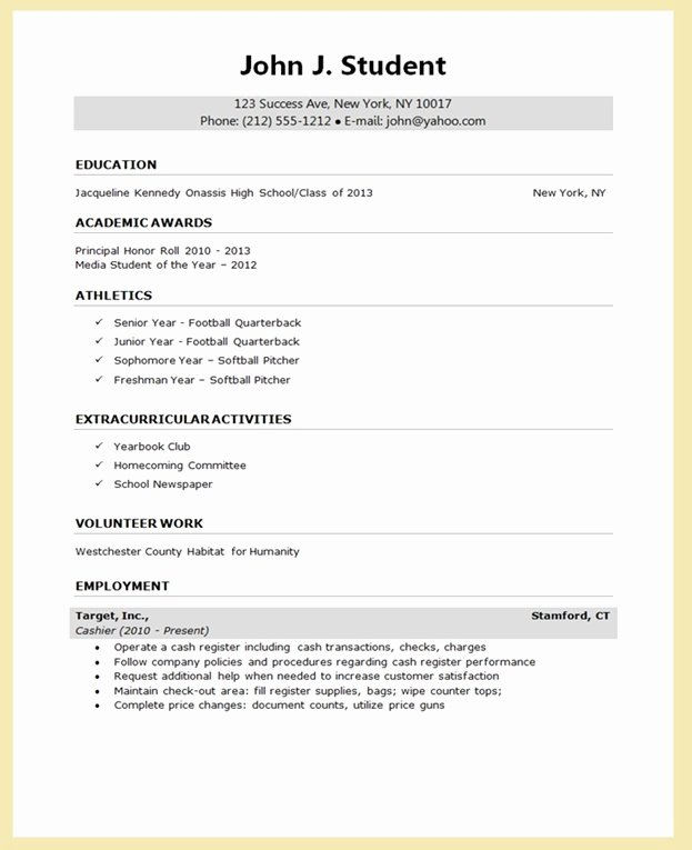 College Application Report Writing form