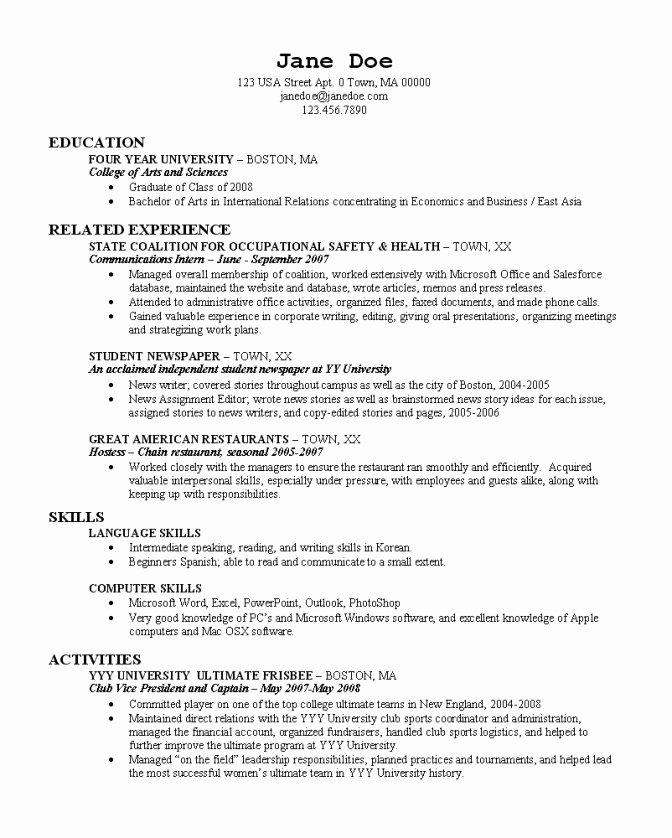 College Application Resume Builder 22 Cover Letter