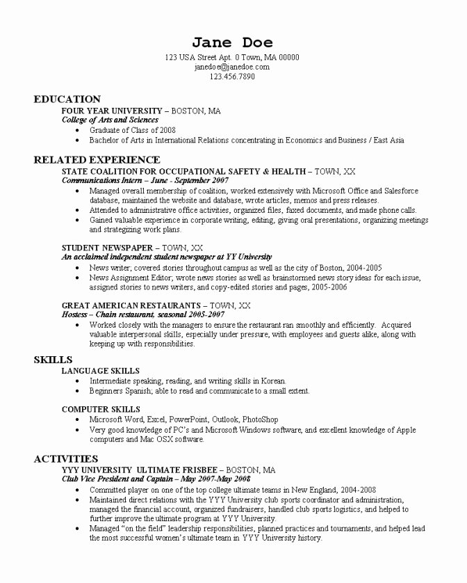 College Application Resume Builder 22 Cover Letter
