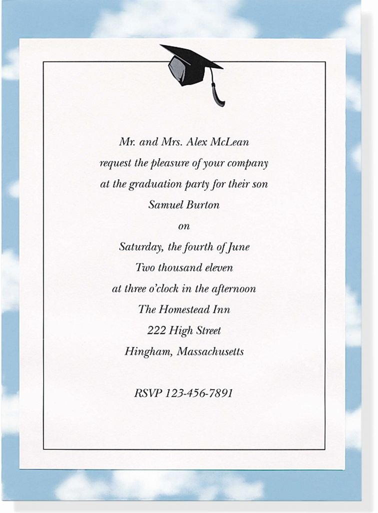 College Graduation Party Invitations Templates Free Fresh