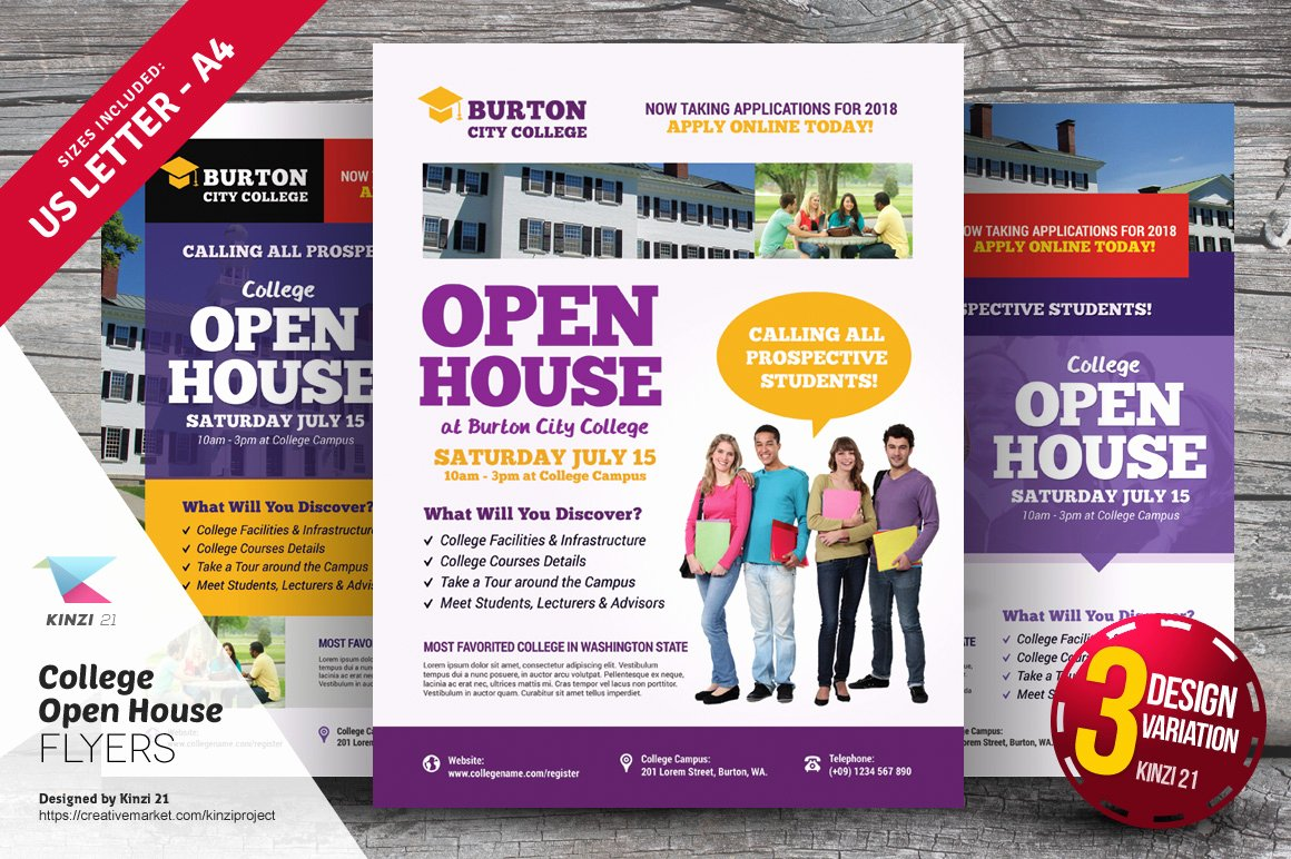 College Open House Flyer Templates Flyer Templates On