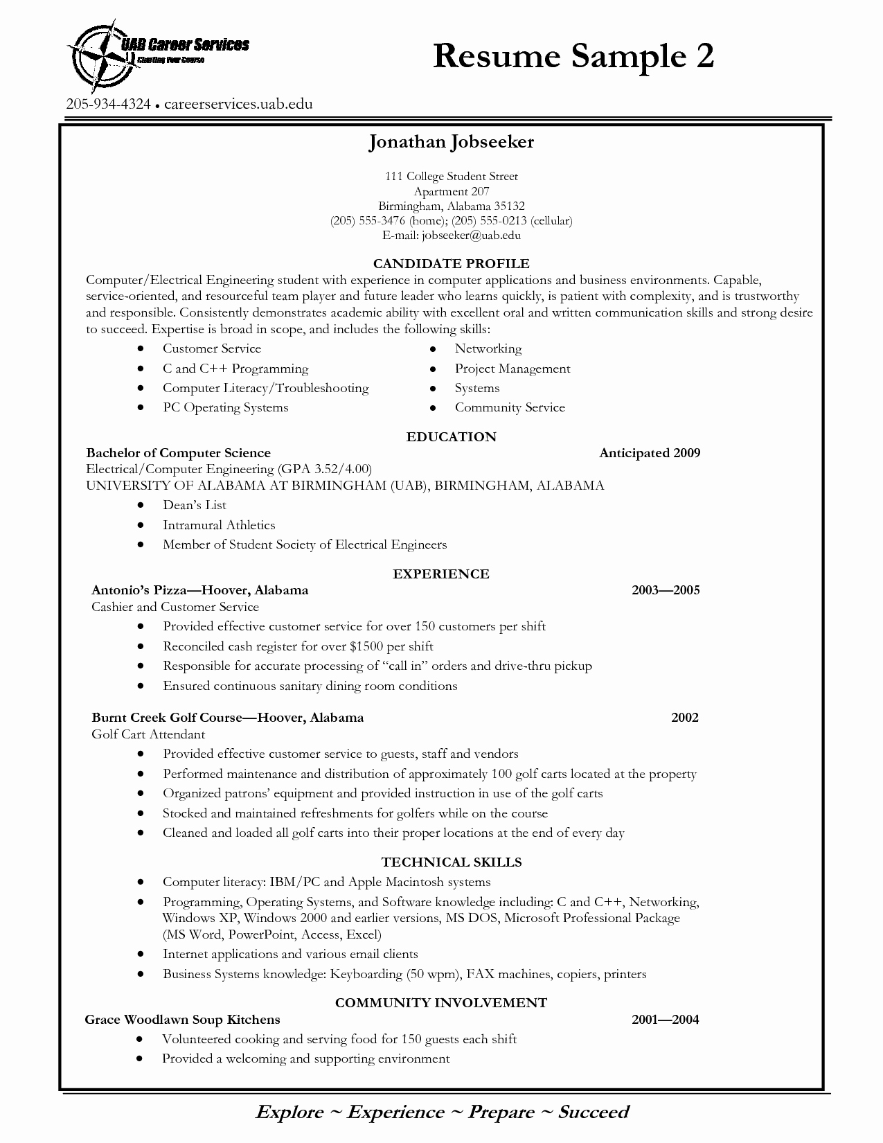 College Resume Best Template Collection