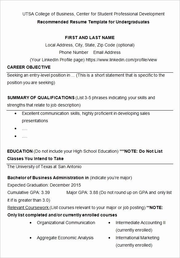 College Resume Builder 2017