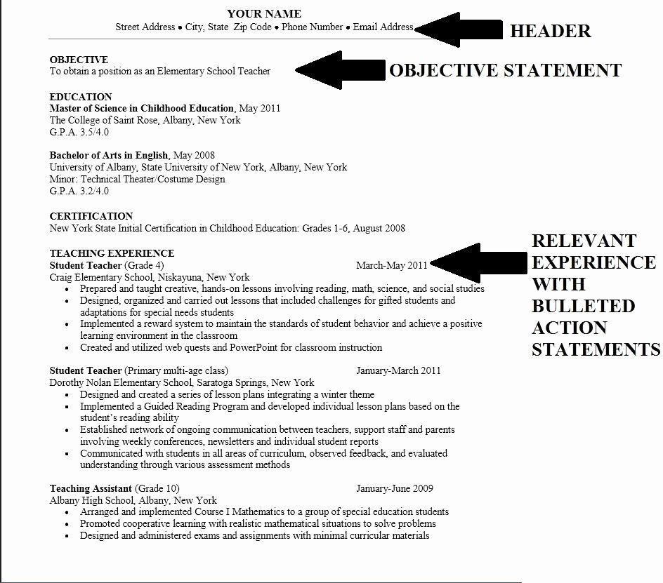 College Resume Objectives Best Resume Collection