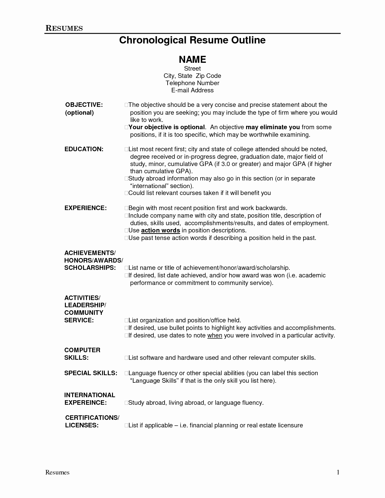 College Scholarship Resume Objective
