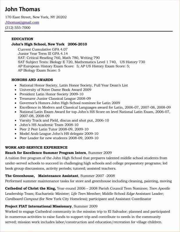 College Senior Resume Best Resume Collection